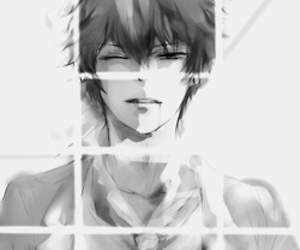 anime, art, and black&white image