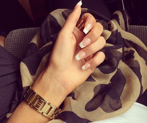 nails, french, and style image