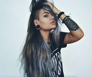 tattoo, hair, and Piercings image