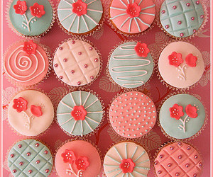 cupcakes, flor, and flower image