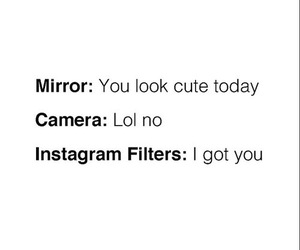 funny, camera, and mirror image