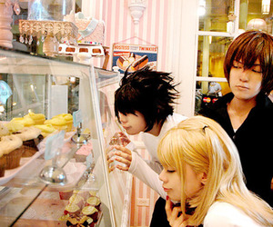 cosplay, death note, and L image