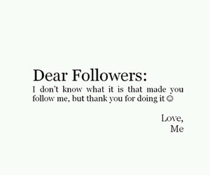 followers, love, and thank you image