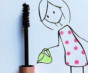 mascara, girl, and art image