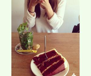 food, cake, and tea image