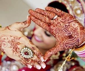 henna, indian, and wedding image