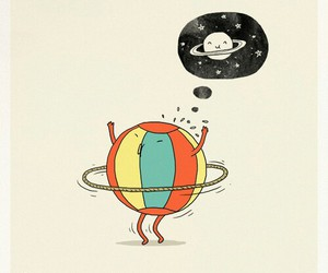 doodle, planet, and quote image
