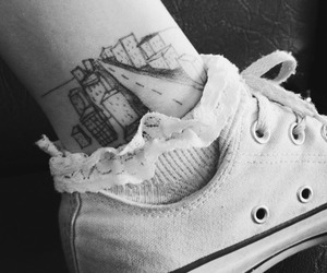tattoo, converse, and black image