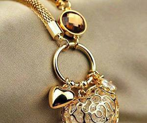heart, accessories, and gold image