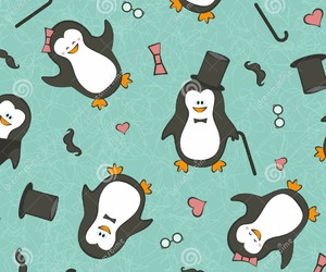 penguin, animals, and background image
