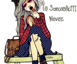 girl, sarcastic, and valfre image
