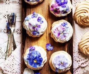 food, flowers, and sweet image