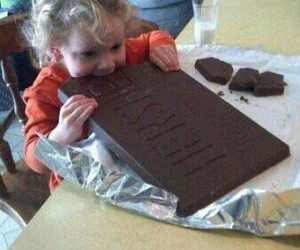 chocolate, girl, and cute image