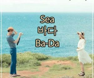 korean, sea, and vocab image