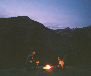 fire, indie, and nature image