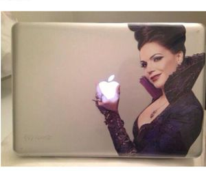 apple, ouat, and macbook image