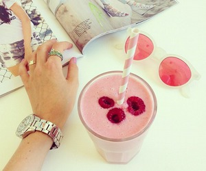 pink, berries, and food image