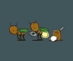 light, funny, and fireflies image