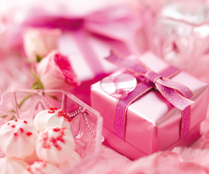 pink, gift, and sweet image