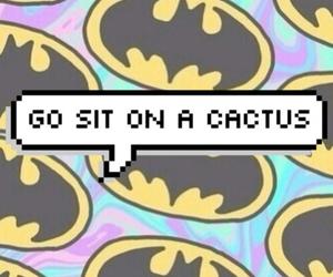 batman, cactus, and wallpaper image