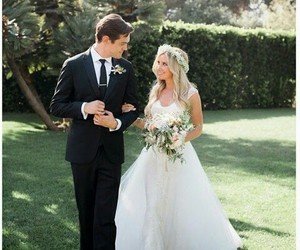 ashley tisdale, wedding, and dress image