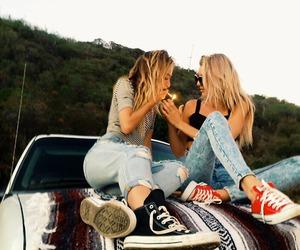 girl, smoke, and friends image