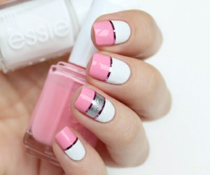 manicure, nails, and nails manicure pink image