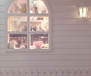 cute, house, and pink image