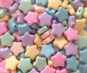pastel, stars, and blue image