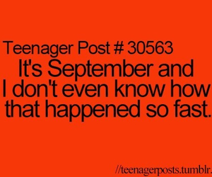 teenager post, funny, and September image