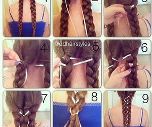 creative, hair, and tutorial image