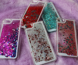 glitter, miscellaneous, and iphone cases image