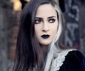 beautiful, black hairs, and dark side image