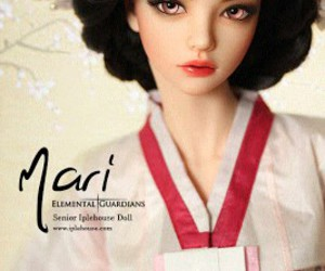 doll, japanese, and mari image