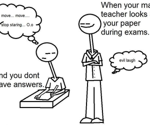 teacher, funny, and exam image