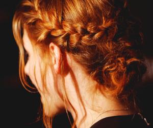 hair, kristen stewart, and braid image