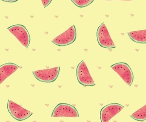 wallpaper, watermelon, and yellow image
