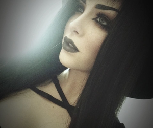 goth, black, and hair image