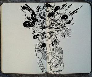 art and girl image