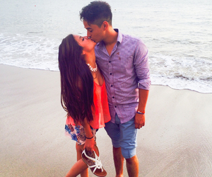 babe, beach, and love image