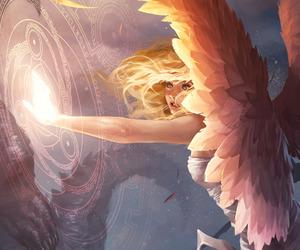 angel, anime girl, and art image
