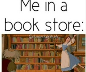 books, belle, and bookstore image