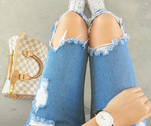 gucci, jeans, and watches image