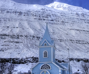 blue, church, and cold image