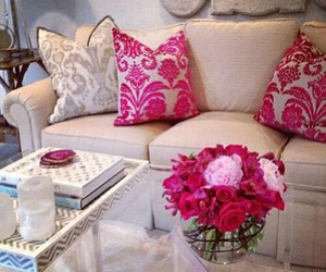 pink, design, and flowers image