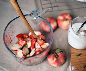 strawberry, fruit, and sugar image