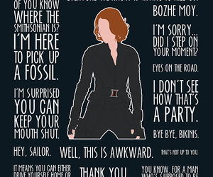 black widow, quotes, and the avengers image