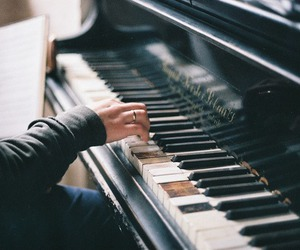 grunge, hipster, and piano image
