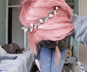 girl, hair, and pink hair image
