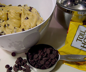 chocolate, cookie dough, and food image